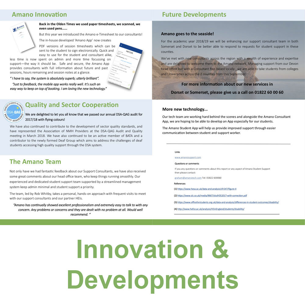 Innovation & Developments